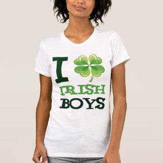 I Love Irish Boys Ladies Destroyed T-Shirt