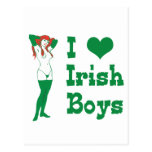 I Love Irish Boys Post Card