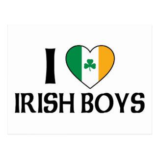 I Love Irish Boys Post Cards