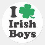 I Love Irish Boys Round Sticker