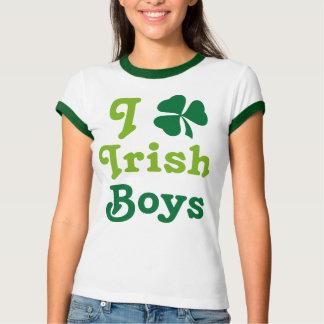 I Love Irish Boys Shamrock Green Tee