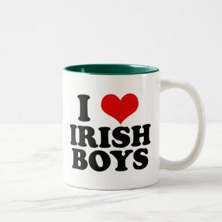 i Love Irish Boys Two-Tone Coffee Mug