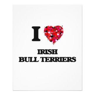 I love Irish Bull Terriers 11.5 Cm X 14 Cm Flyer