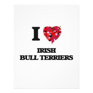 I love Irish Bull Terriers 21.5 Cm X 28 Cm Flyer
