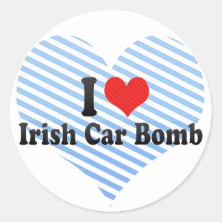 I Love Irish Car Bomb Round Sticker