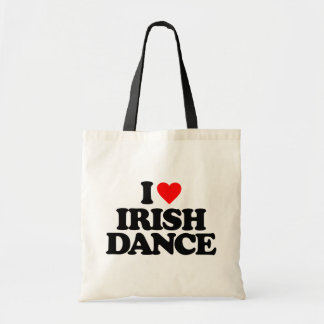 I LOVE IRISH DANCE BUDGET TOTE BAG