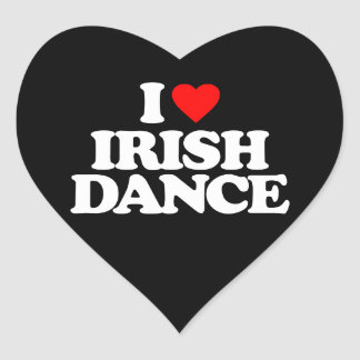 I LOVE IRISH DANCE HEART STICKER