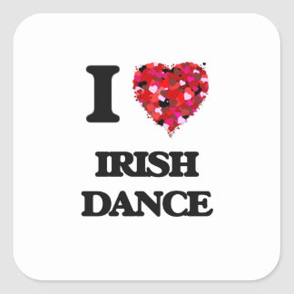 I Love Irish Dance Square Sticker