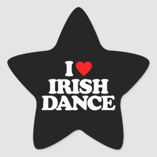 I LOVE IRISH DANCE STAR STICKER