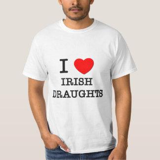 I Love Irish Draughts (Horses) T-Shirt