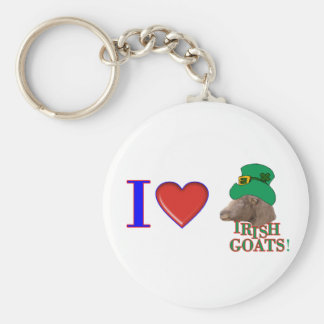I Love Irish Goats - ST. PATRICK'S DAY GIFT Key Ring