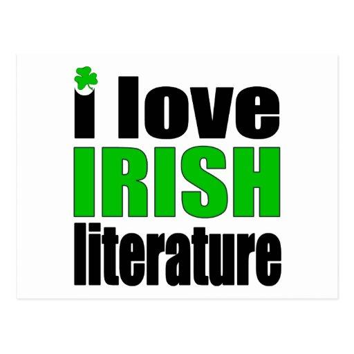 I Love Irish Literature Post Card