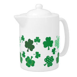 I Love Irish Shamrocks Medium Teapot