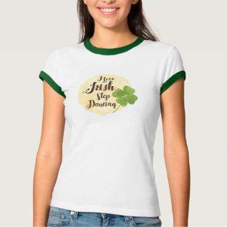 """I Love Irish Step Dancing"" And Clover TS26 T-Shirt"