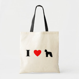 I Love Irish Water Spaniels Bag