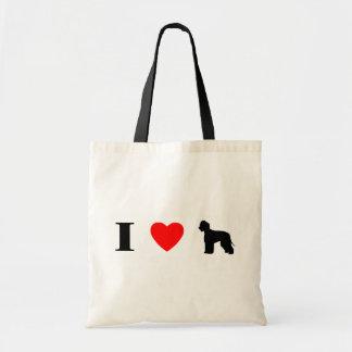 I Love Irish Water Spaniels Bag