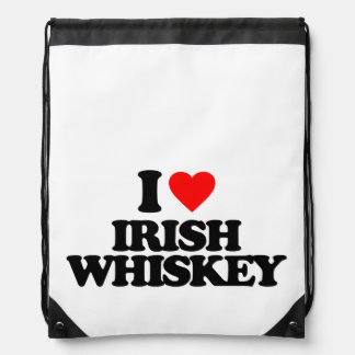 I LOVE IRISH WHISKEY DRAWSTRING BACKPACKS