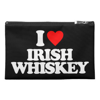 I LOVE IRISH WHISKEY TRAVEL ACCESSORY BAGS