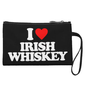 I LOVE IRISH WHISKEY WRISTLET PURSES