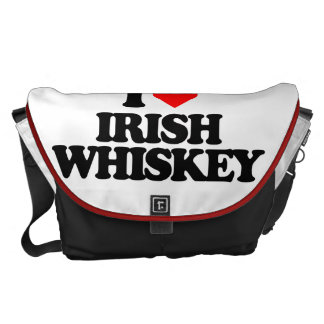 I LOVE IRISH WHISKEY MESSENGER BAGS