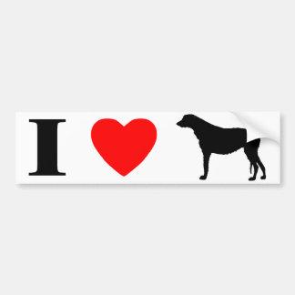 I Love Irish Wolfhounds Bumper Sticker Car Bumper Sticker