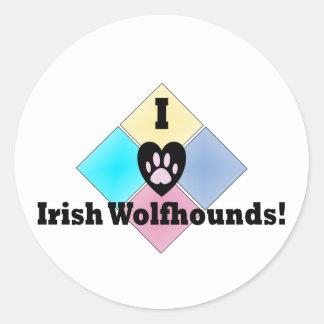 I Love Irish Wolfhounds Sticker