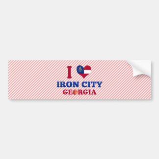I Love Iron City, Georgia Bumper Sticker