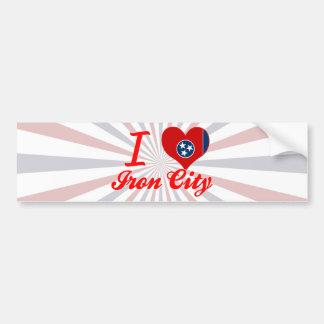 I Love Iron City, Tennessee Bumper Sticker