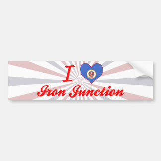 I Love Iron Junction, Minnesota Bumper Stickers