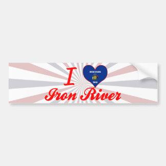 I Love Iron River, Wisconsin Bumper Sticker