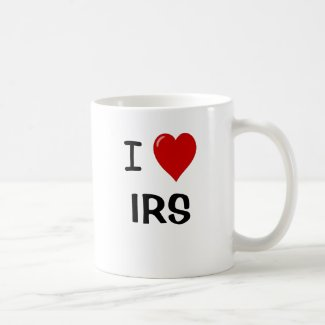 I Love IRS - I Heart IRS - For USA Tax Lovers! Coffee Mug