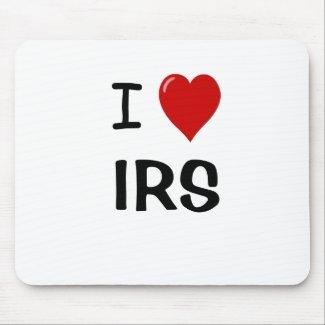 I Love IRS - I Heart IRS - Tax Mousepad