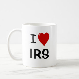 I Love IRS - I Heart IRS - Tax Mug