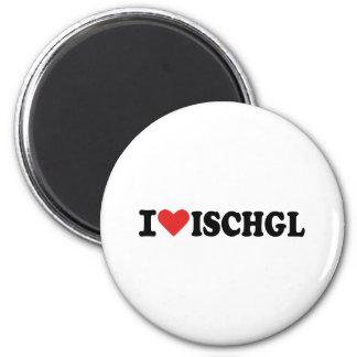 I love Ischgl 6 Cm Round Magnet