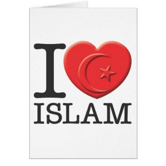 I Love Islam Greeting Card