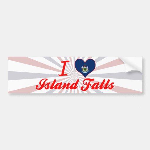 I Love Island Falls, Maine Bumper Sticker