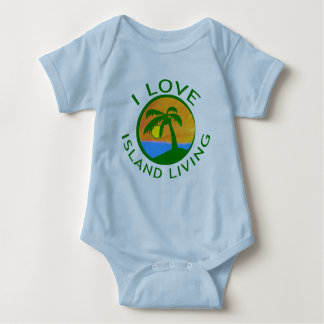I Love Island Living Products Baby Bodysuit
