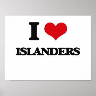 I Love Islanders Posters