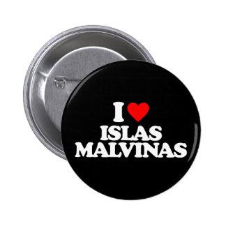 I LOVE ISLAS MALVINAS PINS