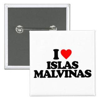 I LOVE ISLAS MALVINAS PINBACK BUTTON