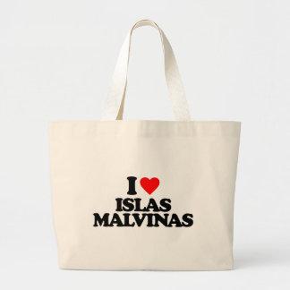 I LOVE ISLAS MALVINAS TOTE BAGS