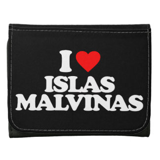 I LOVE ISLAS MALVINAS LEATHER TRIFOLD WALLET