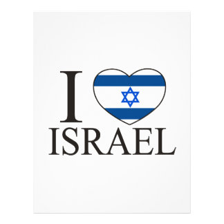 I Love Israel 21.5 Cm X 28 Cm Flyer