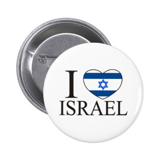 I Love Israel 6 Cm Round Badge