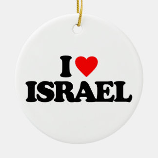 I LOVE ISRAEL CHRISTMAS ORNAMENT