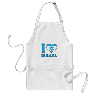 I Love Israel - Flag with Magen David Standard Apron