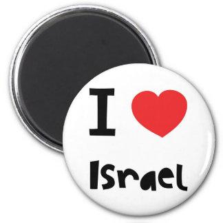 I love Israel 6 Cm Round Magnet