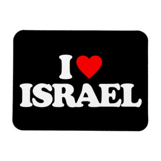 I LOVE ISRAEL VINYL MAGNET