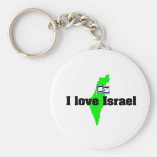 i love israel products key ring