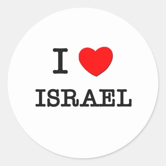 I Love Israel Round Sticker